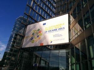 Einblick in die Eröffnung der EU Sustainable Energy Week 2015