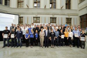 Energie-Scouts bei der Auszeichnung im BMUB