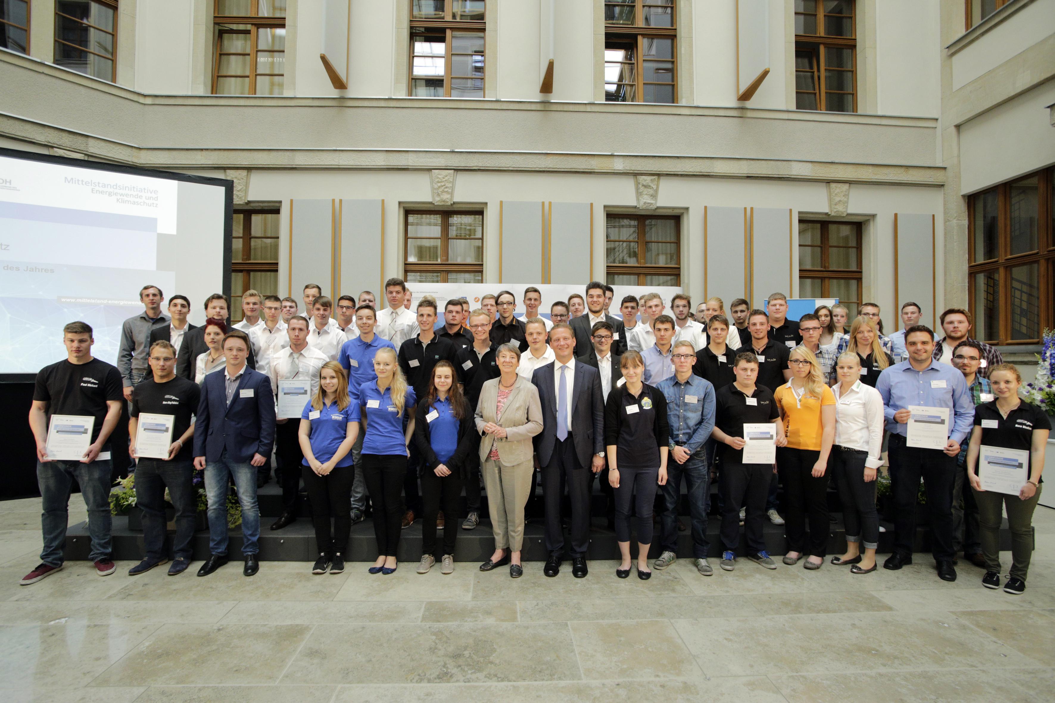 Auszeichnung der besten Energie-Scouts für erfolgreiche Energieeffizienz im Ausbildungsbetrieb
