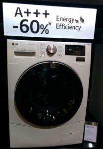 12 kg Waschmaschine von LG mit Energieeffizienz A+++ -60%