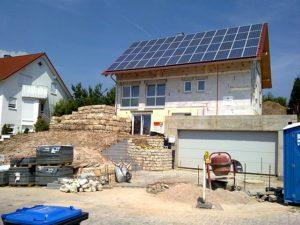 Neubau mit Photovoltaik