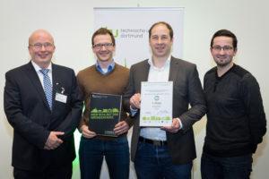 Gewinner des tu>startup AWARD volterion