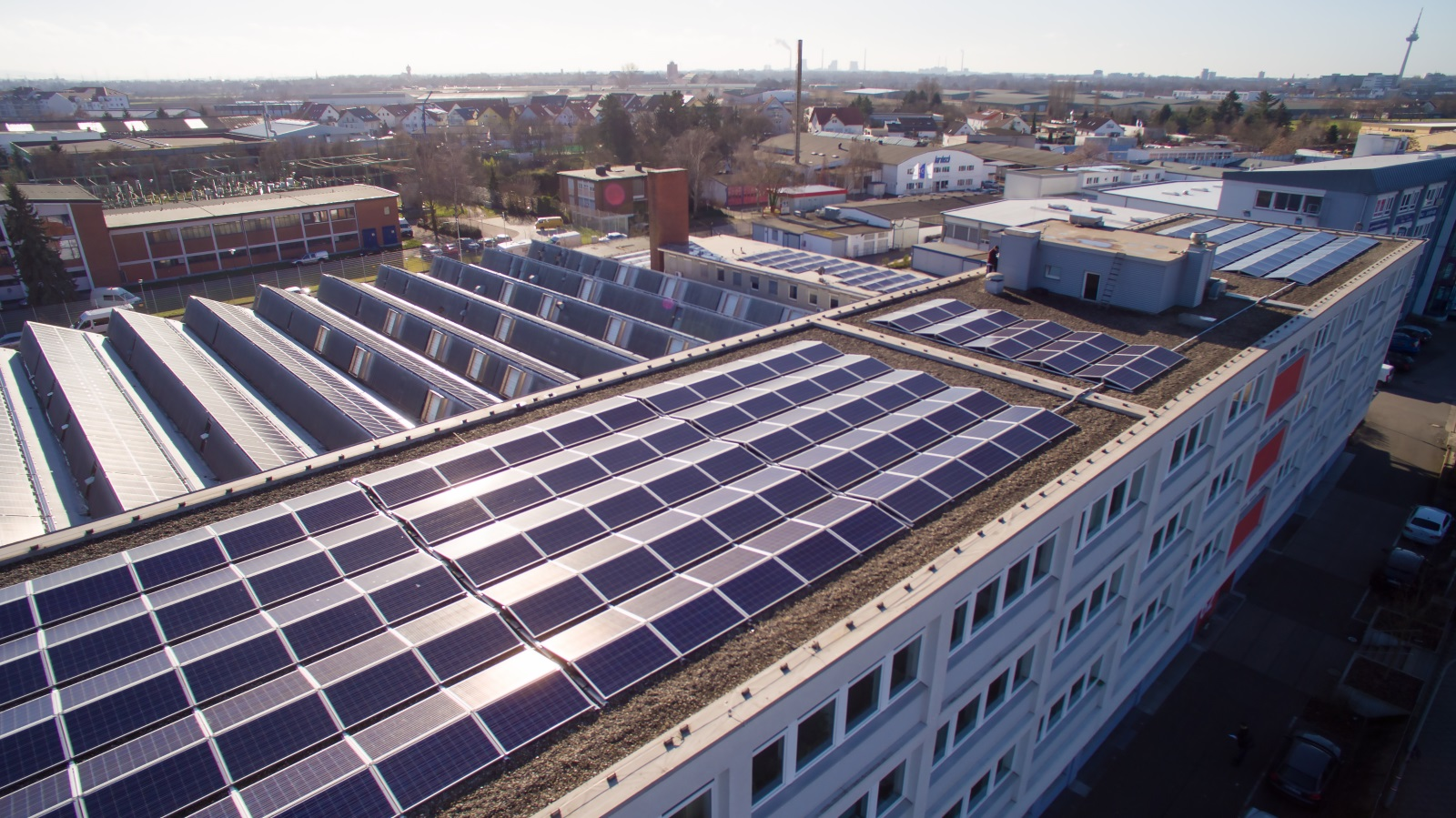 Gewerpark mit Photovoltaik-Eigenverbrauch