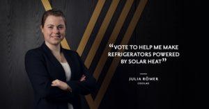 Aufruf von Julia Römer bei Chivas The Venture