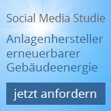 Social-Media Studie über Anlagenhersteller erneuerbarer Gebäudeenergie