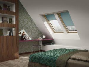 Dachfenster oder Verdunkelungsrollos von Velux steigern die Energieeffizienz von Gebäuden
