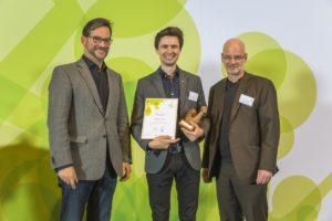 JPM Silicon, Gewinner des StartGreen Award 2016 Kategorie Junge Unternehmen, Foto: Rolf Schulten