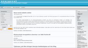 Screenshot von energynet.de im November 2006