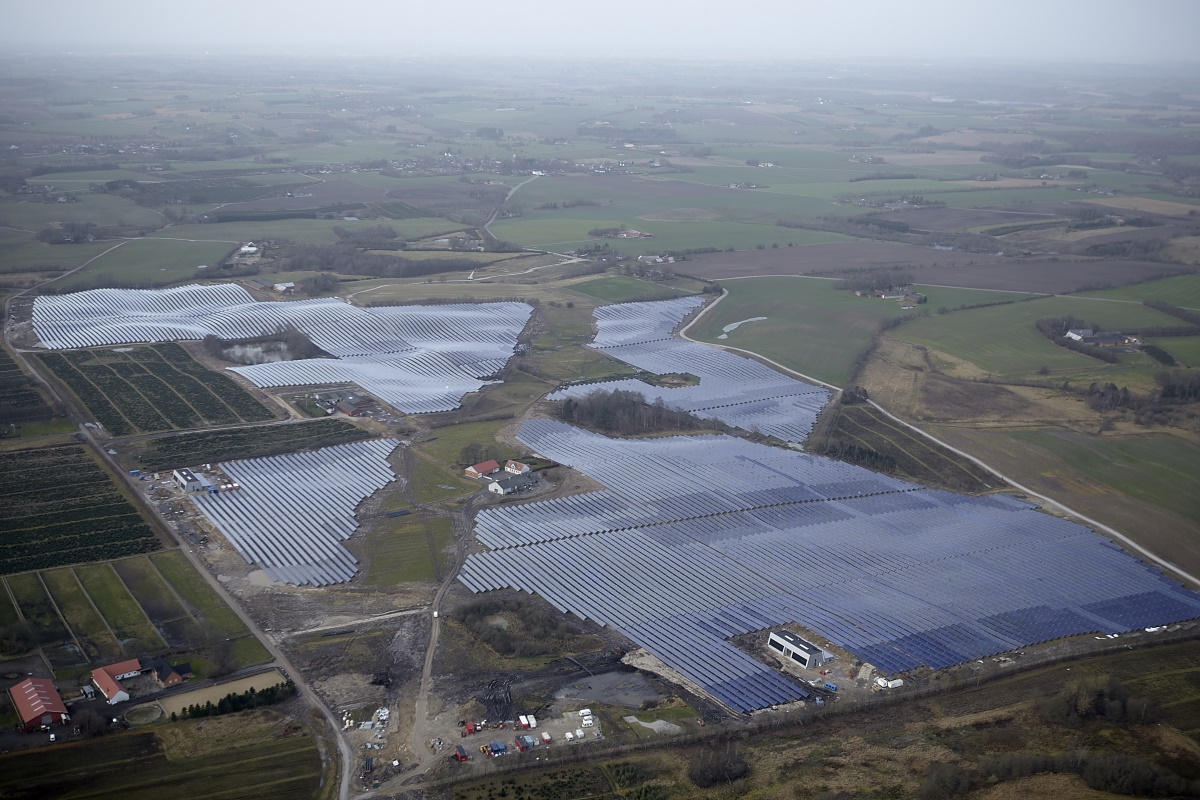 Silkeborg complete solar collector field December 2016