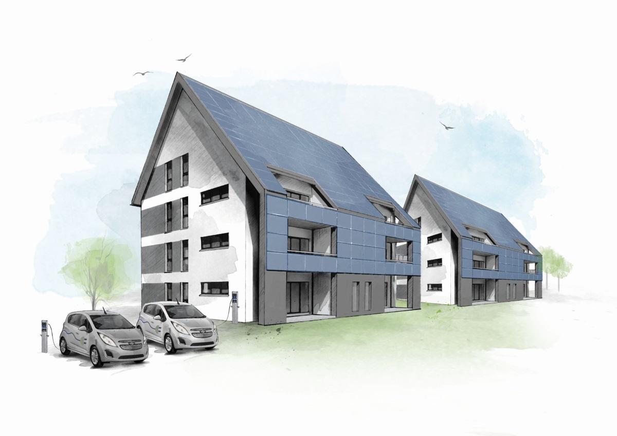 energieautarke Mehrfamilienhäuser