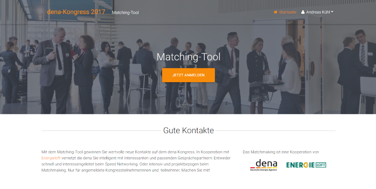 Matching-Tool dena-Kongress 2017