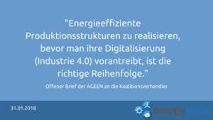 AGEEN fordert Stärkung der Energieeffizienz-Netzwerke in der Wirtschaft