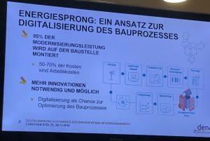 Energiesprong Digitalisierung Gebäude dena Energiewende Kongress 2018