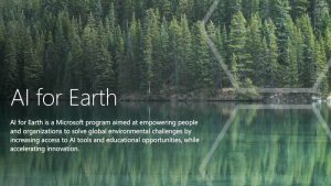 AI for Earth Microsoft