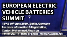European Electric Vehicles Batteries Summit 2019