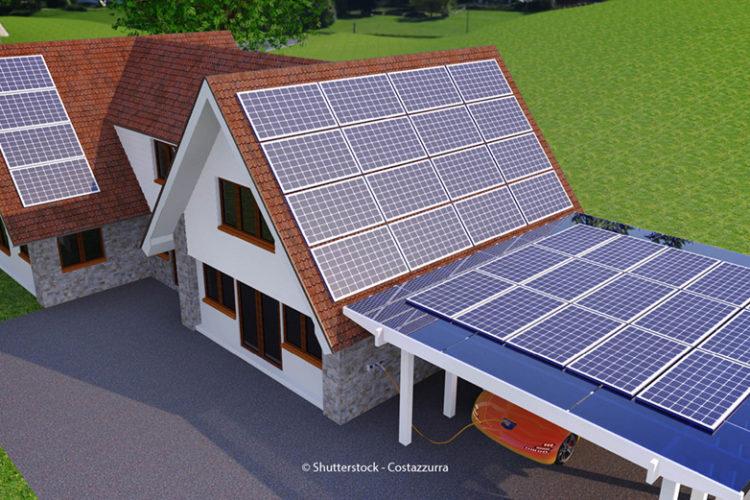 Photovoltaik Haus Garage